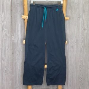 Adidas 3 Stripes Blue Teal Sweatpants Sweats Small